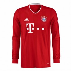 Adidas Bayern Munich Home Long Sleeve Shirt 2020 2021