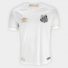 Shirt Santos I 2018 s / n ° Male Umbro Supporter - White and Golden