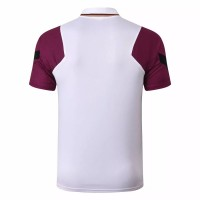 PSG Jordan Training White Purple Polo Shirt 2020