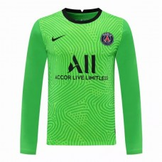 Paris Saint Germain Goalkeeper Long Sleeve Jersey Green 2020 2021