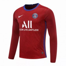 Paris Saint Germain Goalkeeper Long Sleeve Jersey Red 2020 2021