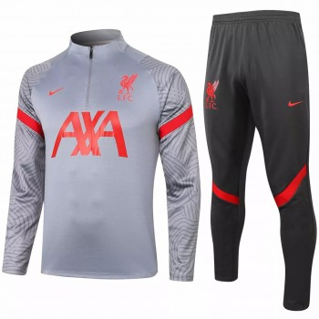 Liverpool FC Grey Training Technical Soccer Tracksuit 2020 2021