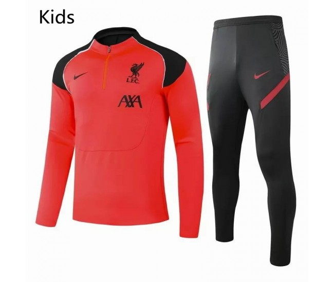 Liverpool FC Training Technical Soccer Tracksuit Orange Kids 2020 2021
