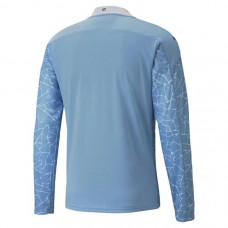 Manchester City Home Long Sleeve Shirt 2020 2021