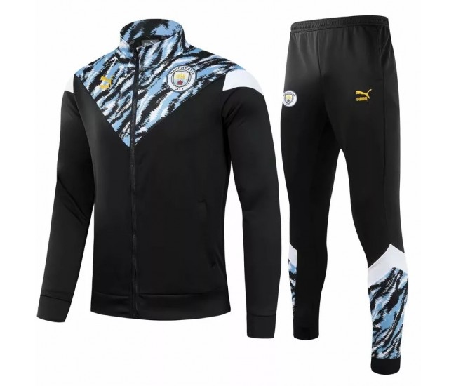 Manchester City FC Pre Match Training Presentation Soccer Tracksuit 2021