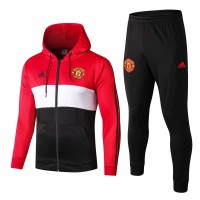 Manchester United Hoodie Jacket Pants Training Suit Red 2019-20