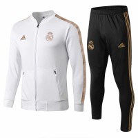 Real Madrid Presentation Soccer White Tracksuit 2019/20