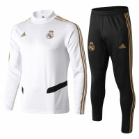 Real Madrid Training Technical Soccer White Tracksuit 2019/20
