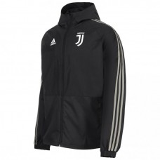 JUVENTUS BLACK RAIN JACKET 2018/19