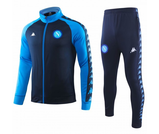 SSC Napoli Limited Edition Casual Soccer Tracksuit 2018-19 Navy