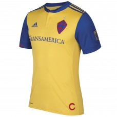 Men's Colorado Rapids adidas Yellow 2017/18 Secondary Authentic Team Jersey