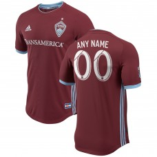 Men's Colorado Rapids adidas Burgundy 2018 Primary Authentic Custom Jersey