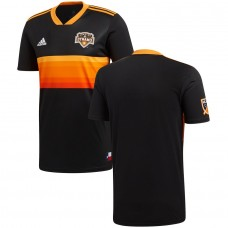 Men's Houston Dynamo adidas Black 2018 Secondary Jersey