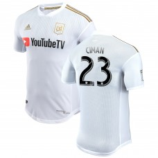 Men's LAFC Laurent Ciman adidas White 2018 Secondary Authentic Player Jersey