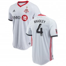Men's Toronto FC Michael Bradley adidas White 2018 Secondary Authentic Player Jersey