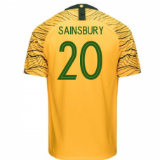Australia National Team Nike 2018 Home Jersey (Sainsbury 20)