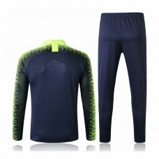 Brazil Royal Blue Stripe Training Soccer Tracksuit 2018/19 - Kids
