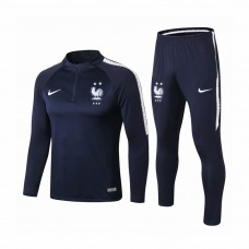 France Navy Training Technical Soccer Tracksuit 2018/19 - Kids
