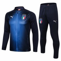 Italy Navy Blue Technical Training Soccer Tracksuit 2018/19 - Puma