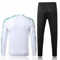 Portugal Team White Stripe Presentation Training Soccer Tracksuit 2018/19